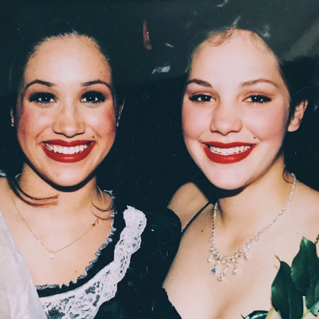 """Katharine and Meghan actually went to the same high school in LA, as this throwback photo from the time reveals. <br><br> """"We just stay in touch with them,"""" Katharine said of her and David's relationship with the Sussexes.  """"Meghan and I knew each other from childhood, but really, Harry and my husband are friends, and it's really nice."""""""