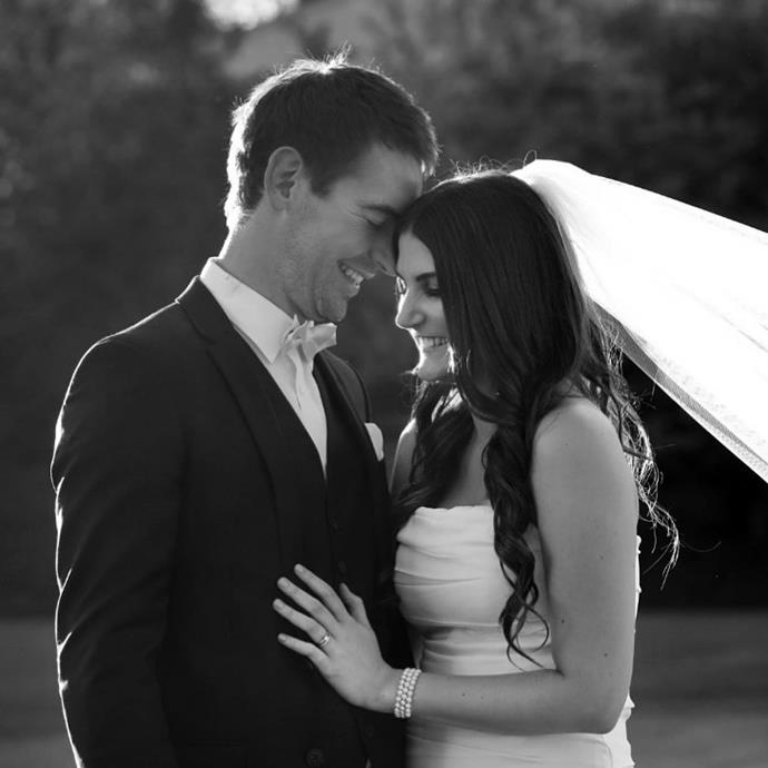 The stunning photo was taken on the couple's wedding day.