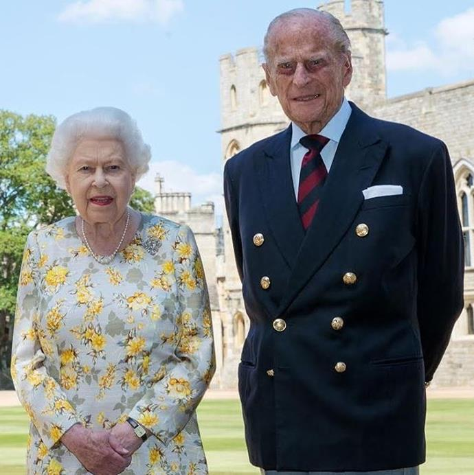 The Palace has released this new photo of Prince Philip and the Queen for his 99th birthday.