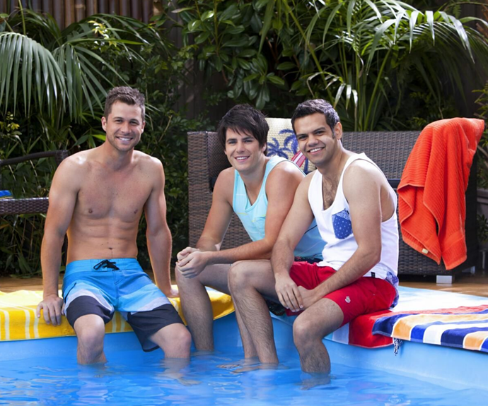 Meyne (right) pictured alongside his Neighbours co-star Scott McGregor (left).