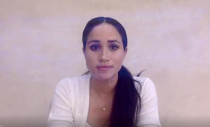 Meghan shared an emotional video in the wake of the George Floyd protests.