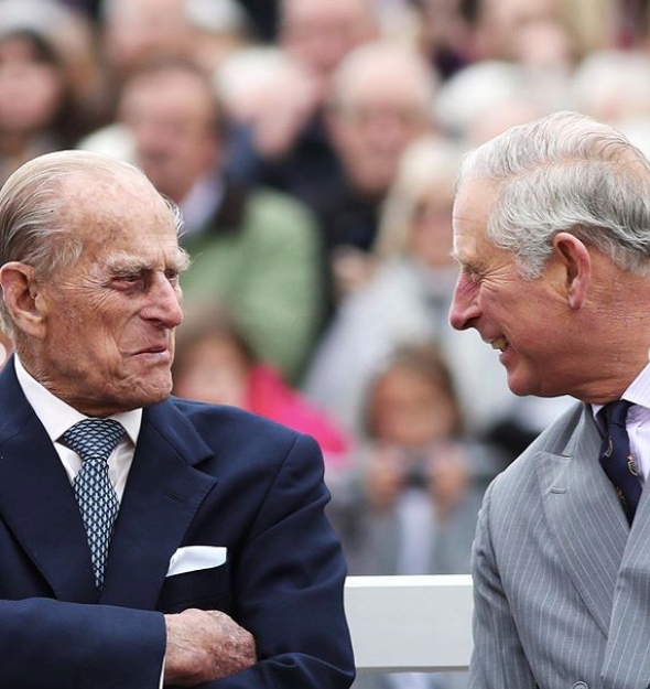 A second pic, not unlike Wills' and Philip's snap above, was also shared featuring the Prince and his son.
