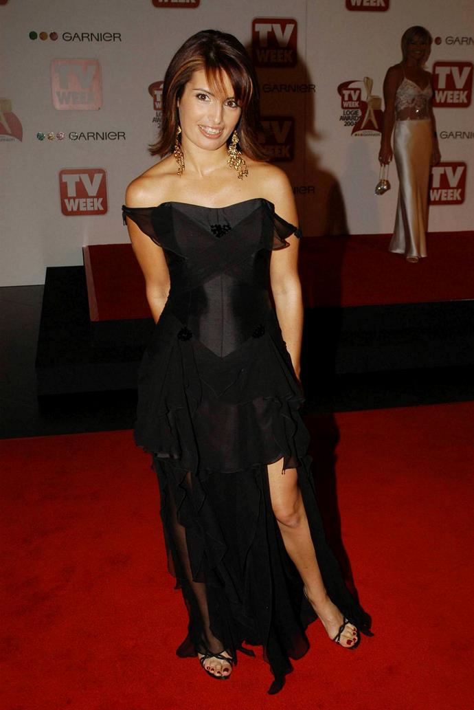 Ada was rocking the Angelina Jolie leg *long* before it was a thing - she's pictured here in 2004.