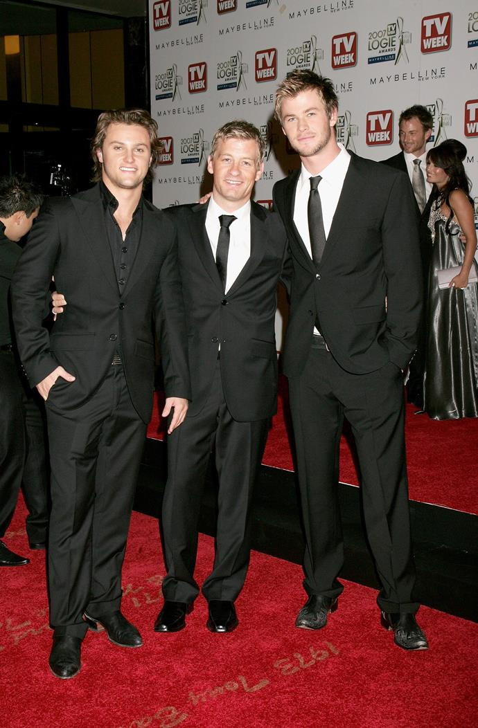 Mark Furze, Chris Hemsworth and Nic Bishop were dapper as ever in 2007.