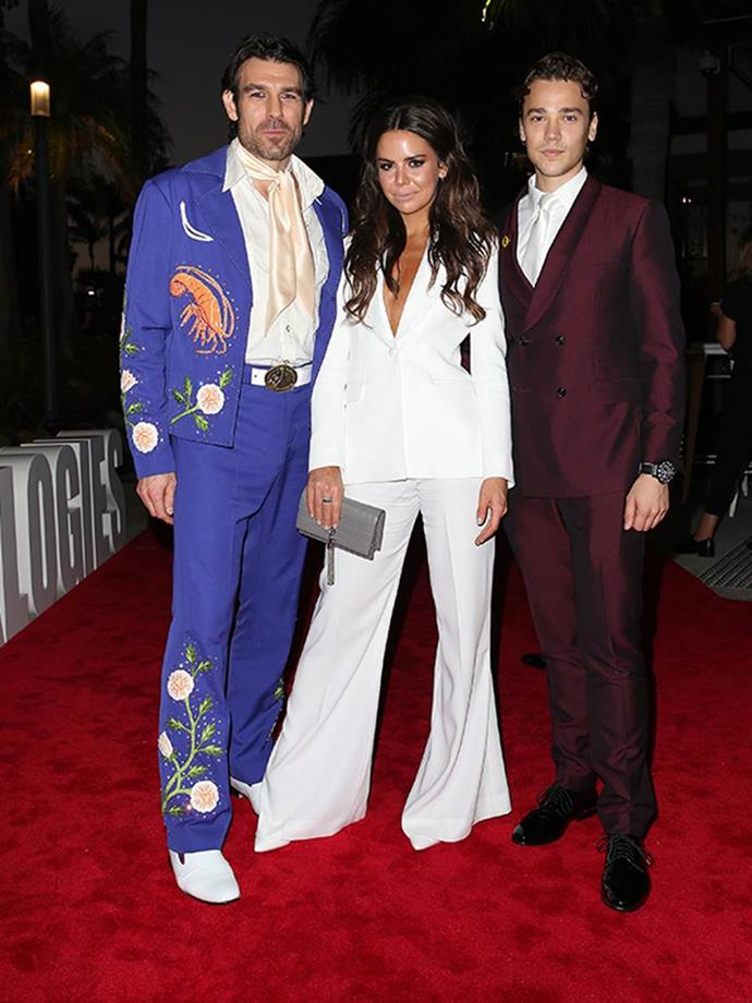 Well this is... unexpected. Rohan Nichol and Lukas Radovich turned up the retro glam in 2019, while Emily Weir rocked the ultimate pant suit.