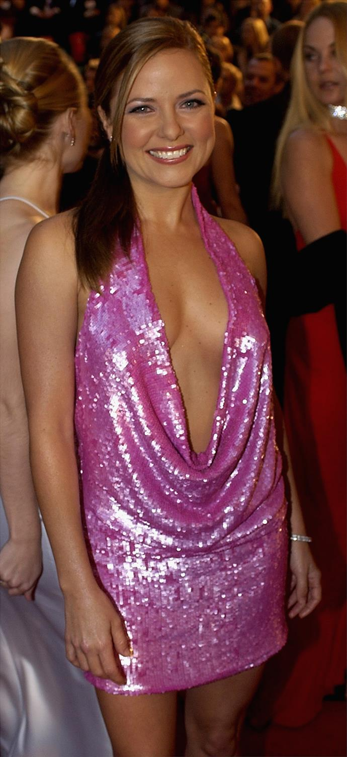 Move aside Bec, Toni Pearen's 2003 Logies outfit was the next pink legacy for the archives.