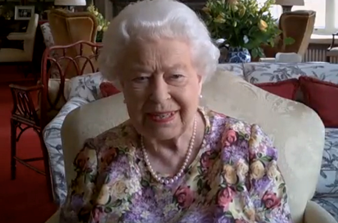 The Queen was a total natural during the video call.
