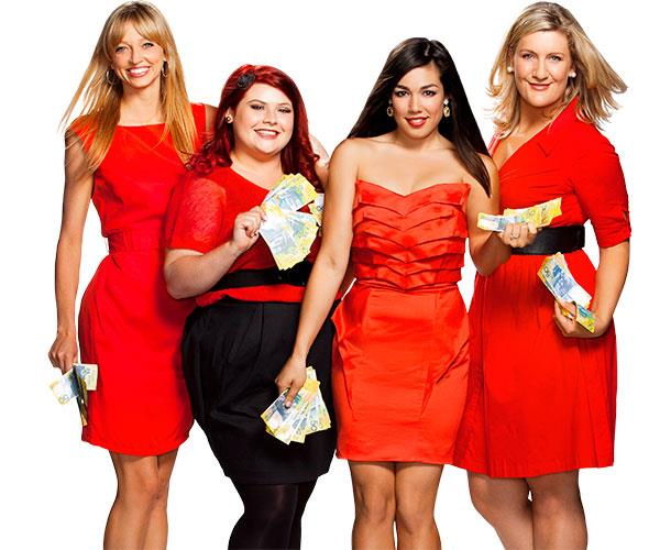 Zoe (far left) and the *Winners & Losers* gals