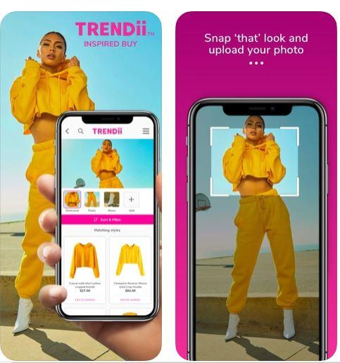 Trendii allows users to upload a photo of any outfit they like, and it'll instantly find match ups.