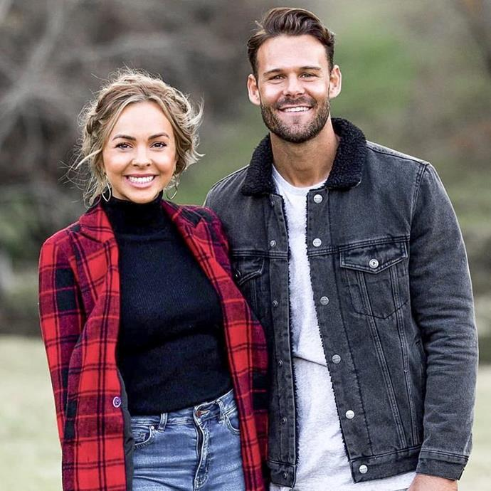 Back to where it all began: Angie and Carlin found love on season five of *The Bachelorette* Australia.