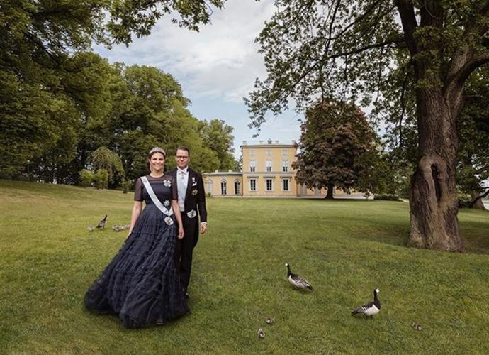 The Swedish royal Palace has revealed several stunning new images of the Crown Princess and her husband in time for their tenth wedding anniversary.