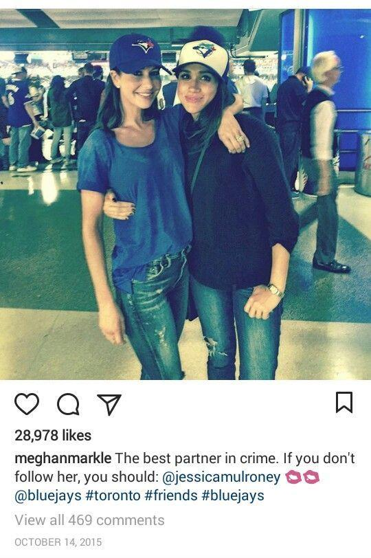 """In these screenshots from Meghan's deleted Instagram, the now Duchess called her friend """"the best partner in crime""""."""