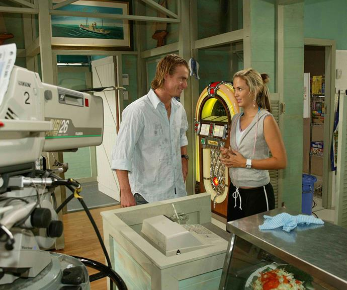 The Bec and Lleyton show! Both at the peak of their careers and newly engaged, Lleyton decided to make an A-list cameo on the set of his soon-to-be wife's TV show *Home And Away* back in 2005.