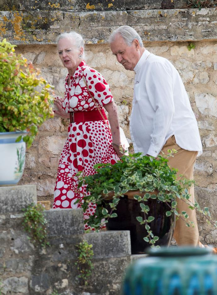 Margrethe, pictured here with her late husband Prince Consort Henrik, has continued to shine against the odds in the years following his sad passing.