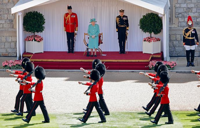 It was decided that due to the ongoing COVID-19 Pandemic The Queen's Birthday Parade, known as Trooping the Colour, would not go ahead in it's traditional form at Buckingham Palace and Horse Guards Parade, but a small military ceremony would take place at Windsor Castle instead.