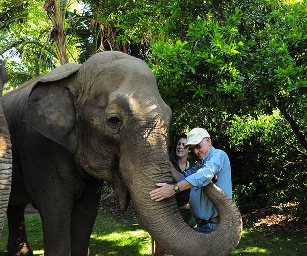 Me and Tricia Image: Melissa Leo/Perth Zoo