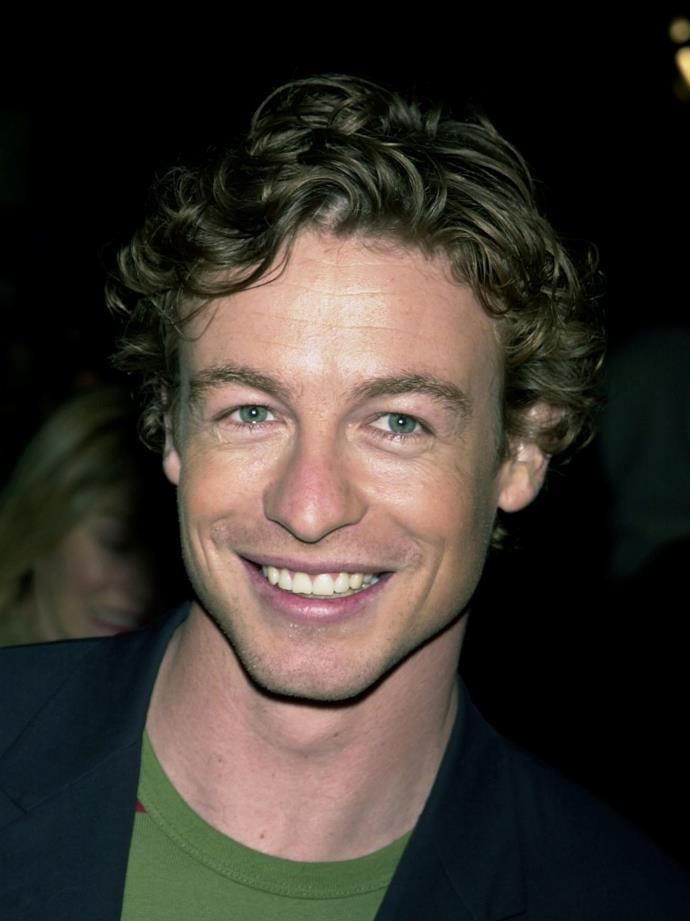 A handsome young Simon Baker pictured back in the day.