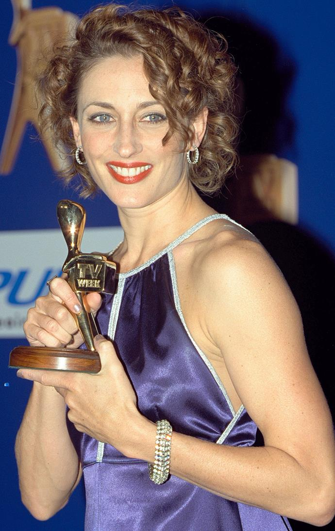 Just one of the many Logie Awards Georgie has won over the years.