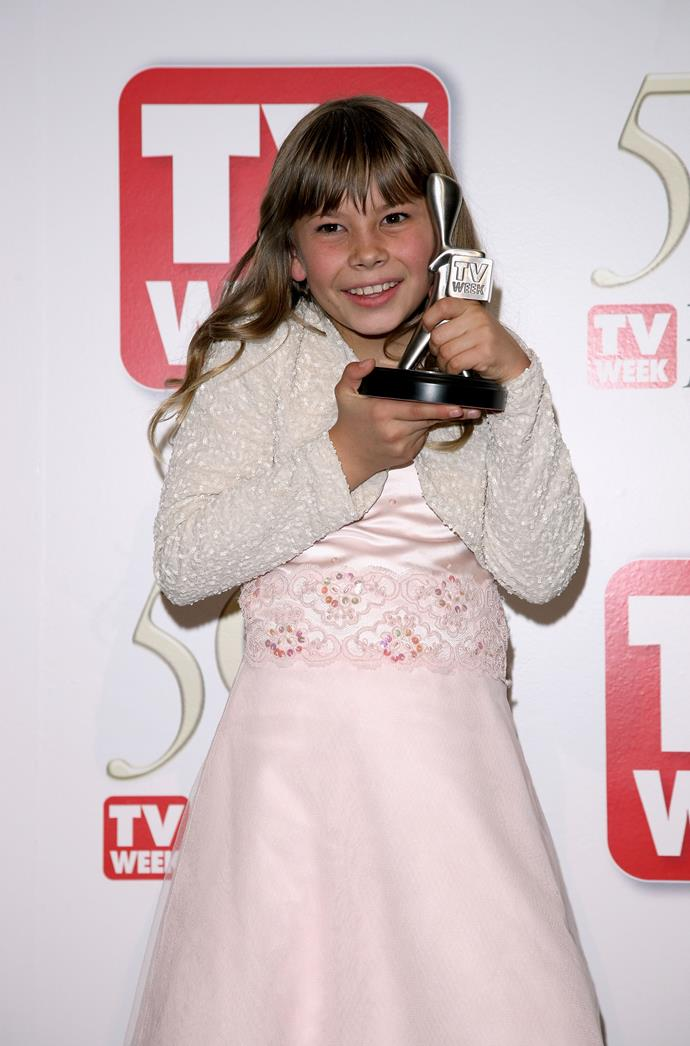 How cute is little Bindi and her Logie Award?