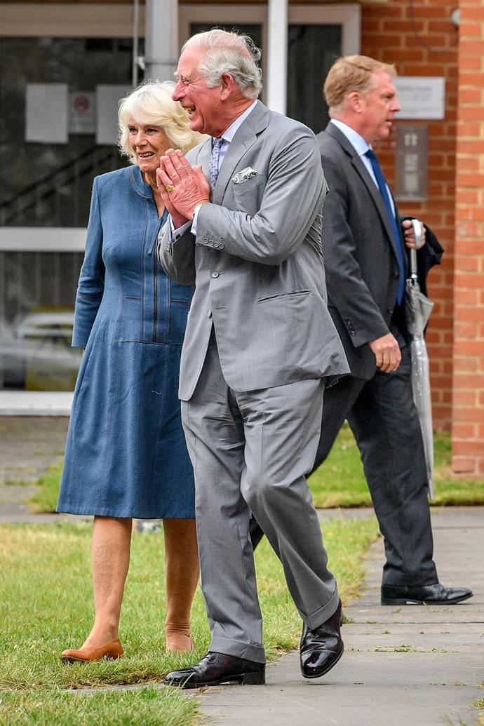 Prince Charles and Camilla spent time meeting workers from the hospital.