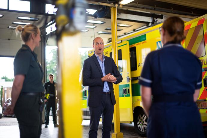 Prince William met and thanked Ambulance staff who worked tirelessly throughout the height of the pandemic.