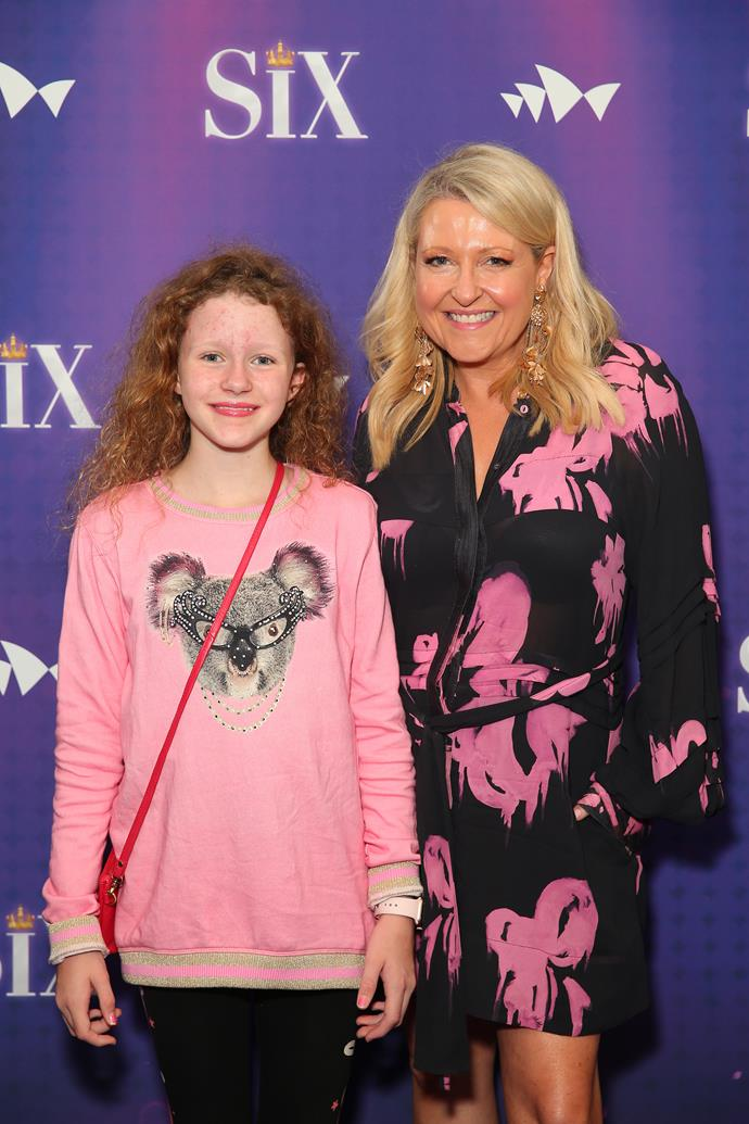Angela and her daughter Amelia pictured on the red carpet together.