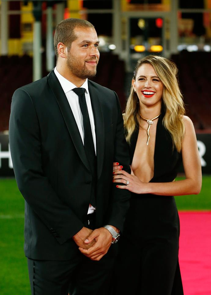 Buddy and Jesinta pictured before they were married, at an official AFL function in 2016.