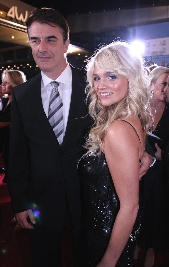 Joined by *Sex and the City* star Chris Noth, Stephanie McIntosh was radiant on the red carpet in 2006.