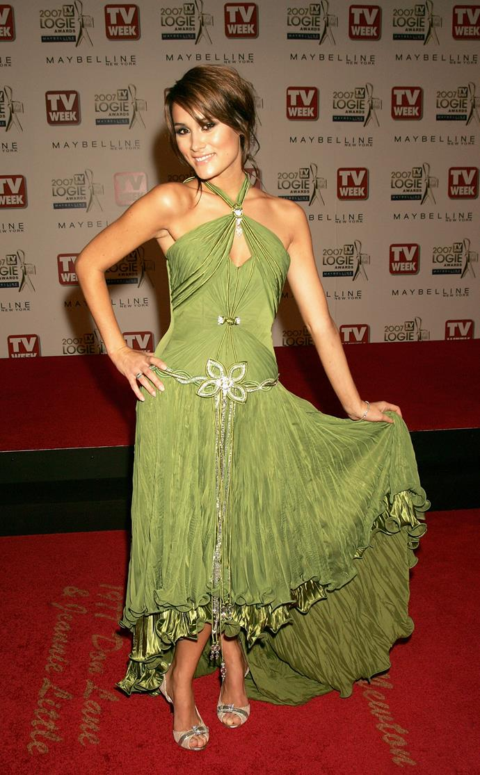 Natalie Blair's halter-neck mossy green style practically screamed 2007.