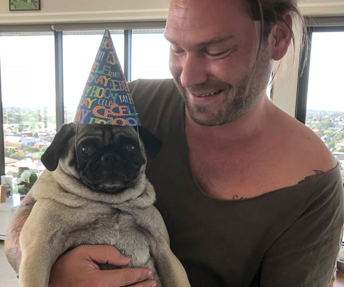 Jamie is the proud dog dad to Dallas and says he'd love to have kids soon.