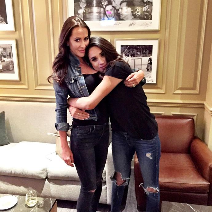 Meghan and Jess pictured during happier times.