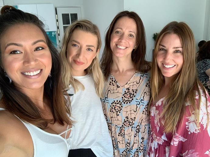 The four girls together. (L-R): Tash, Emma, Mim and Jules.