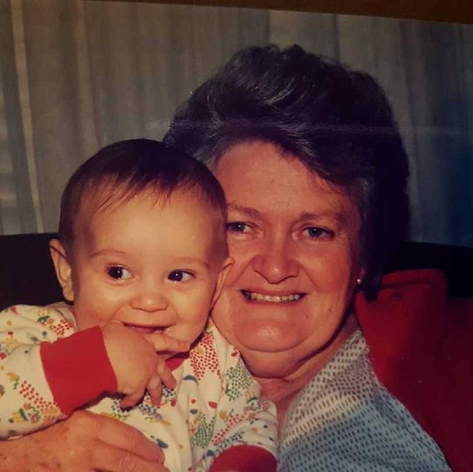 Reece posted these sweet photos of himself as a baby with his Nan.