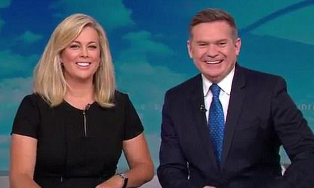 Sam and Michael pictured on-air together on Channel Seven.