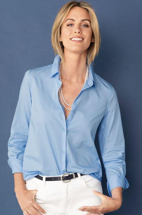 """This crisp blue shirt from Ezibuy is stylish, practical *and* cheap as chips. $12, [buy it online here](https://www.ezibuy.com/shop/au/capture-classic-shirt/p/220483 target=""""_blank"""" rel=""""nofollow"""")."""