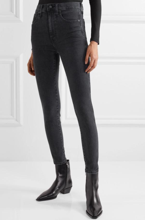 """A good pair of jeans are hard to find, but these charcoal Madewell high rises could be a winner. $168.59, [buy them online via Net-A-Porter here](https://www.net-a-porter.com/en-au/shop/product/madewell/high-rise-skinny-jeans/1194199 target=""""_blank"""" rel=""""nofollow"""")."""