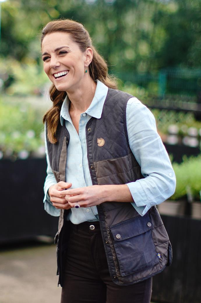 Kate was glowing in her first post-lockdown outing at a local garden centre.