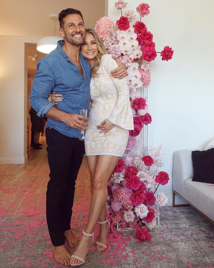 "The glamorous mama-to-be looked stunning in this [$395 Alice McCall dress](https://www.alicemccall.com.au/collections/dresses/products/adore-mini-dress-1|target=""_blank""