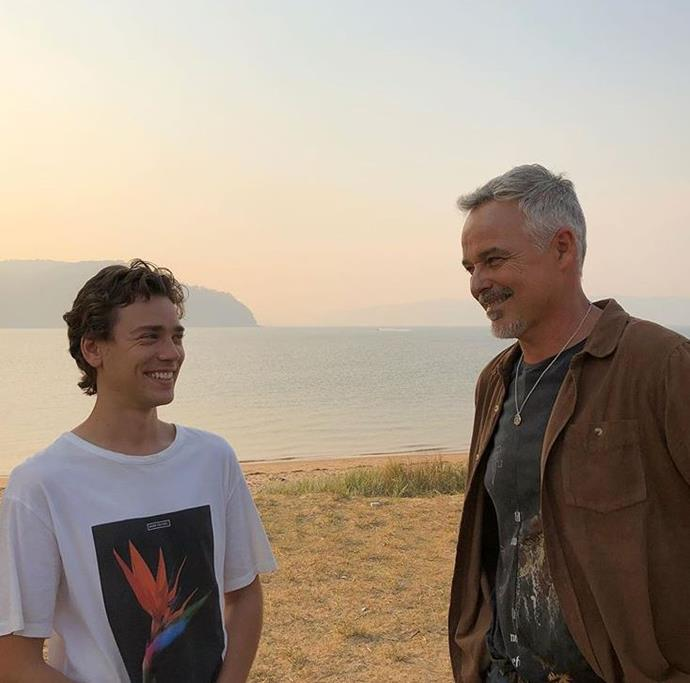 Cameron Daddo pictured with Lukas Radovich (who plays his long-lost son on the show) has made a big impression on *Home and Away* viewers.