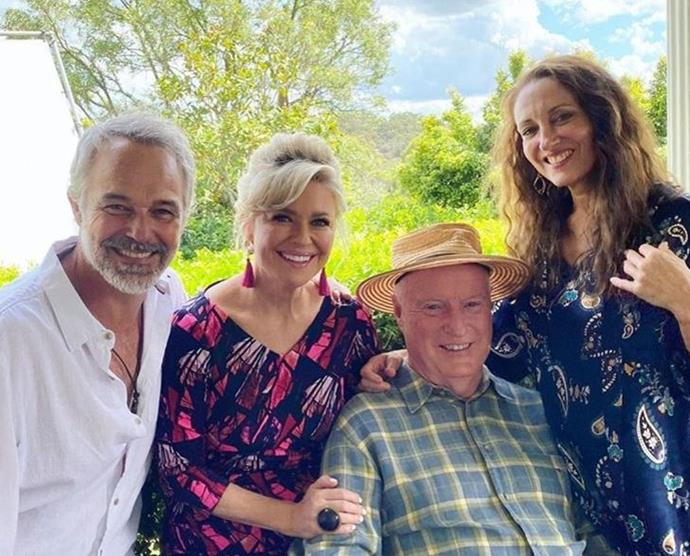 Cameron Daddo with his *Home and Away* co-stars, Emily Symons, Ray Meagher and Georgie Parker.