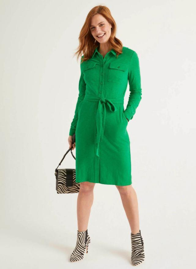 "This Boden jersey shirt dress is perfect for our post-iso back-to-work wardrobes - comfy and chic! $65, [buy it online here](https://www.bodenclothing.com.au/en-au/rowena-jersey-shirt-dress-rich-emerald/sty-j0645-bgr?cat=C1_S2_G4|target=""_blank""