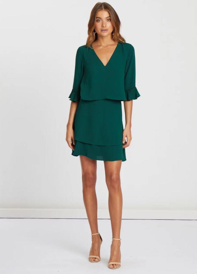 "Comfy, efforless and oh-so-chic, this Chancery design is an absolute scene in green. $119.95, [buy it online via The Iconic here](https://www.theiconic.com.au/ryan-dress-871746.html|target=""_blank""