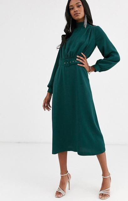 "If you're after something a little fanicer, this Closet London frock, which features a chic high-neck design and belted waist is your go-to. $140, [buy it online via ASOS here](https://www.asos.com/au/closet-london/closet-london-high-neck-belted-midi-dress-in-forest-green/prd/13249022|target=""_blank""