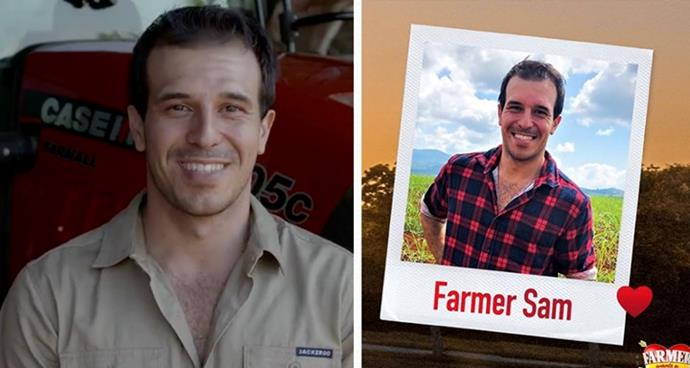 **Farmer Sam, 27** <br><br> A tropical fruit farmer from Queensland, Farmer Sam describes himself as a fun, loving and caring person with a heart of gold and a dry sense of humour. His interests include cars, camping and tractors and he loves country music.  <br><br> The five things that make Sam unique, according to him: 1. My sense of humour  2. My contagious laugh  3. My caring nature  4. I'm a very creative person  5. My personality