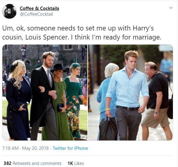 Twitter lost the plot when Louis entered royal wedding stage left.