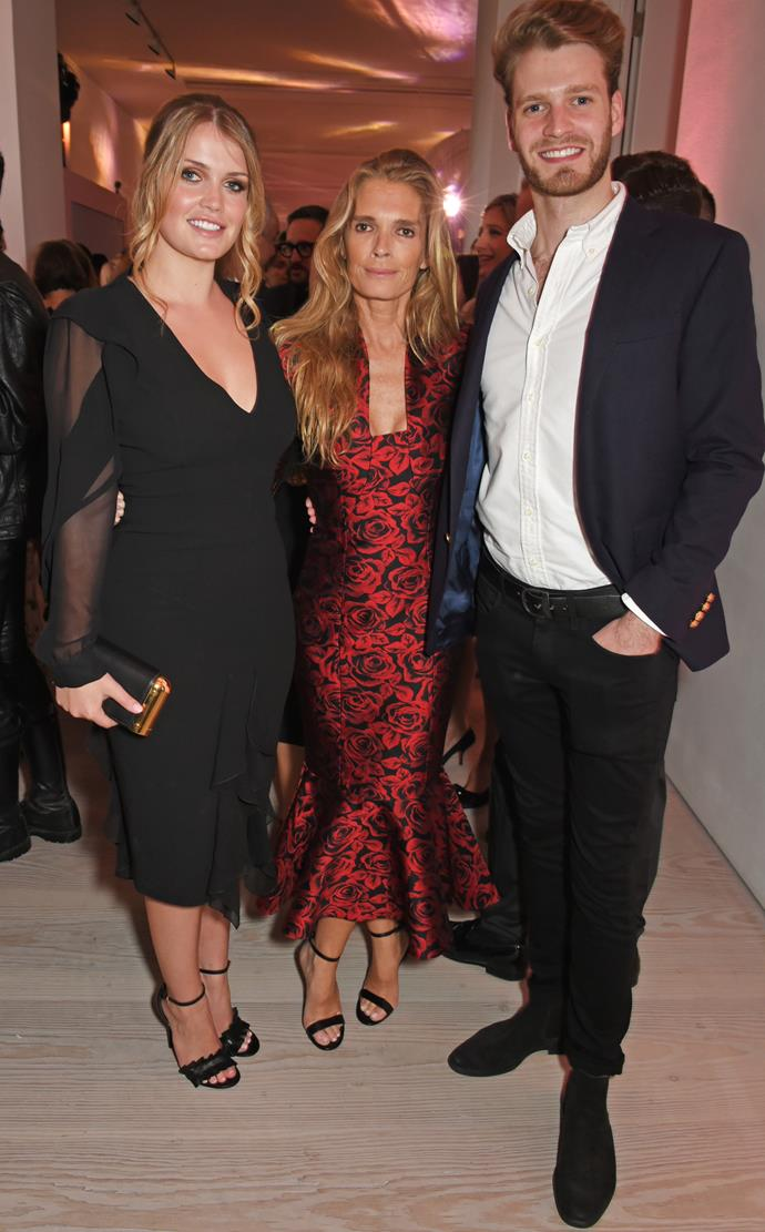 Louis is the younger bother of Lady Kitty Spencer. Pictured here with their mother, Victoria Aitken.