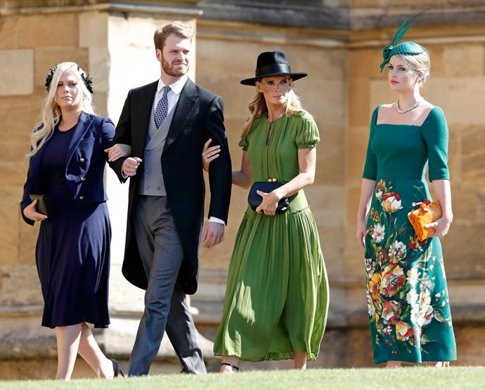 Team Spencer made quite the entrance at Harry and Meghan's nuptials.