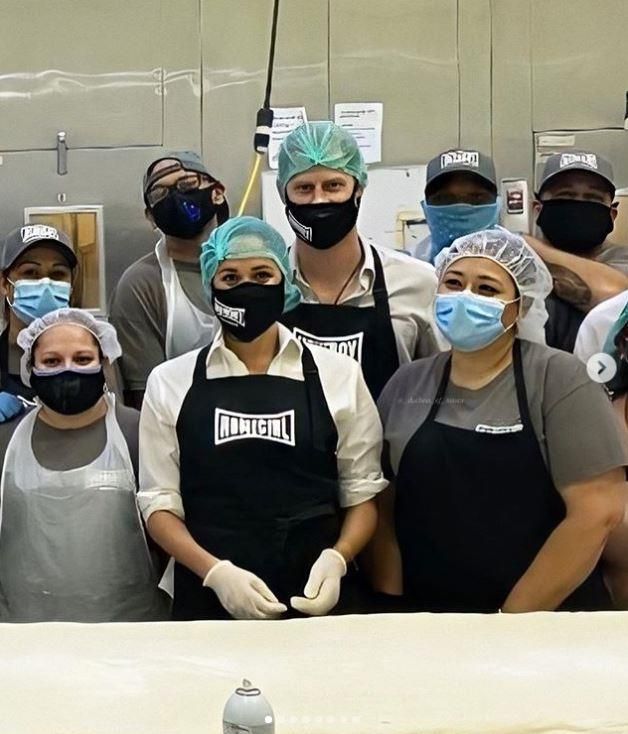 Prince Harry and Duchess Meghan have been keeping busy this week - they were spotted volunteering in a kitchen in Los Angeles amid the COVID-19 crisis.