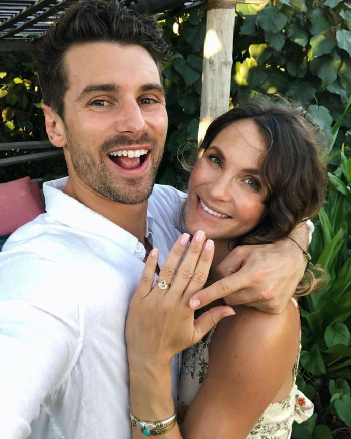 He put a ring on it! On a romantic babymoon in Fiji, Matt popped the question to Laura. Spoiler alert - she said yes.