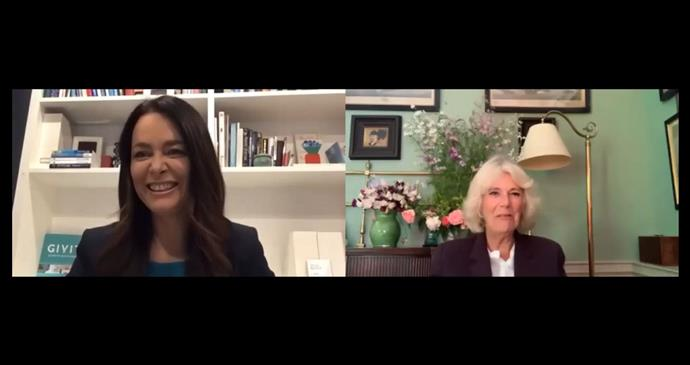 Duchess Camilla shared an exciting video call with GIVIT Founder, Juliette Wright in Brisbane.